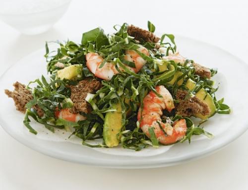 Avocodo, Baby Spinach & Prawn Salad